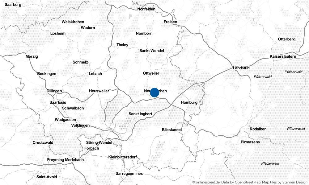 Karte: Wo liegt Neunkirchen (Saar)?