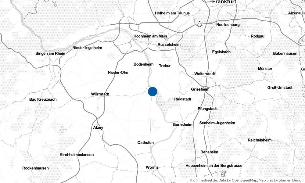 Karte: Wo liegt Oppenheim?