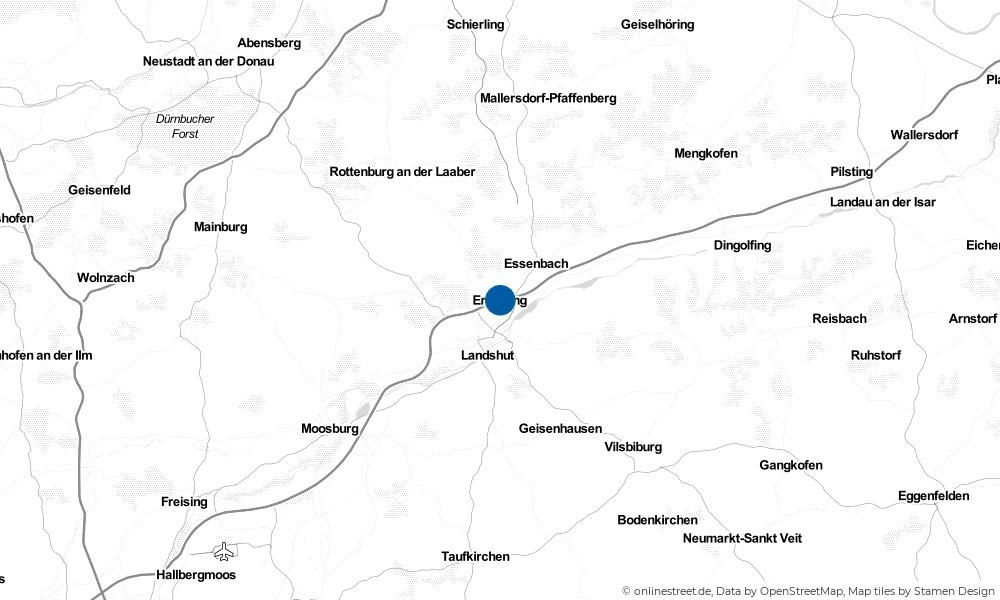 Karte: Wo liegt Ergolding?