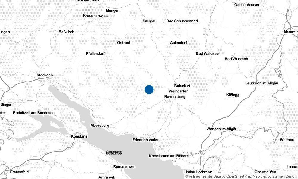 Karte: Wo liegt Horgenzell?
