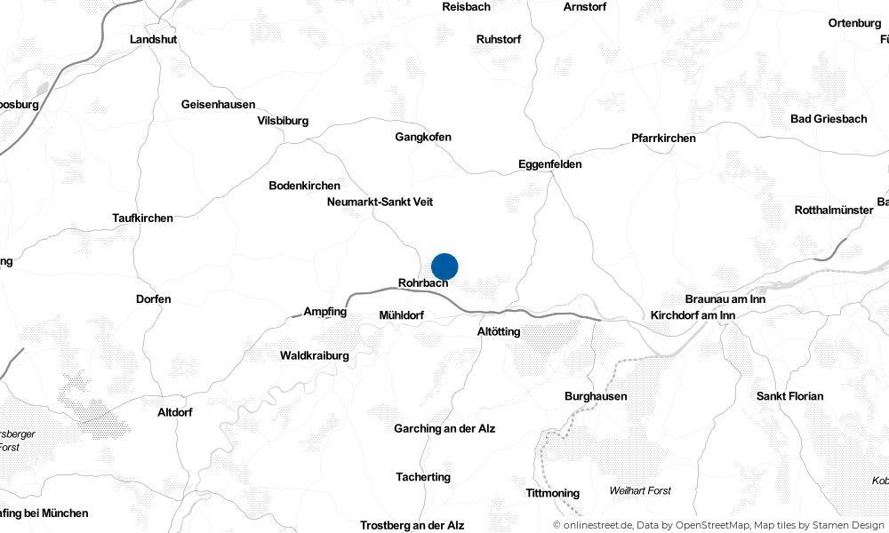 Karte: Wo liegt Pleiskirchen?