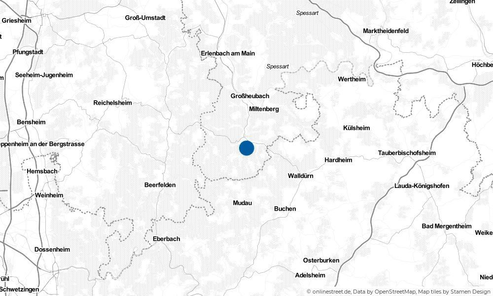 Karte: Wo liegt Amorbach?