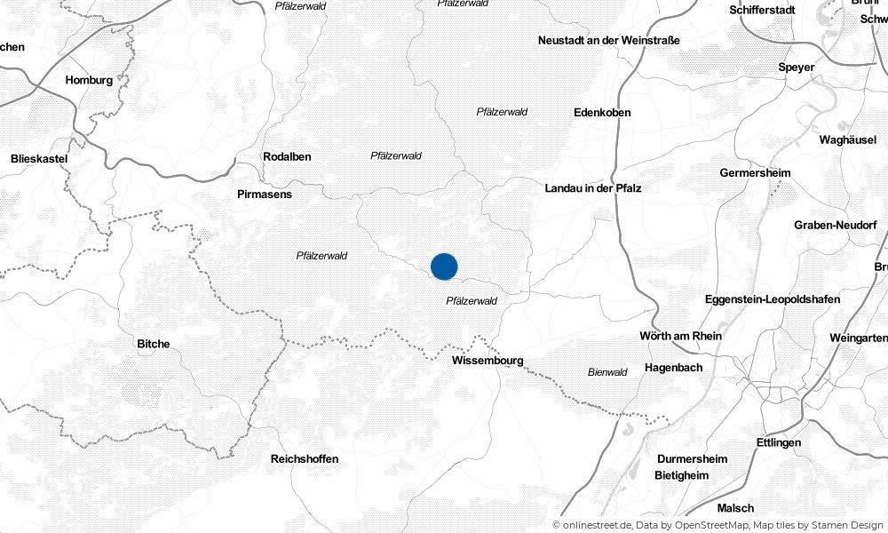 Karte: Wo liegt Vorderweidenthal?