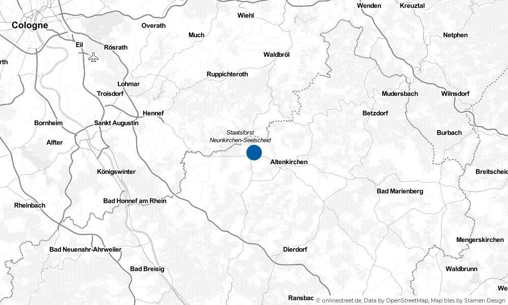 Karte: Wo liegt Weyerbusch?