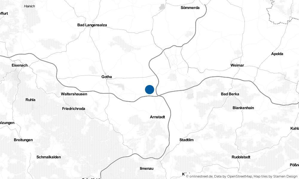 Karte: Wo liegt Neudietendorf?