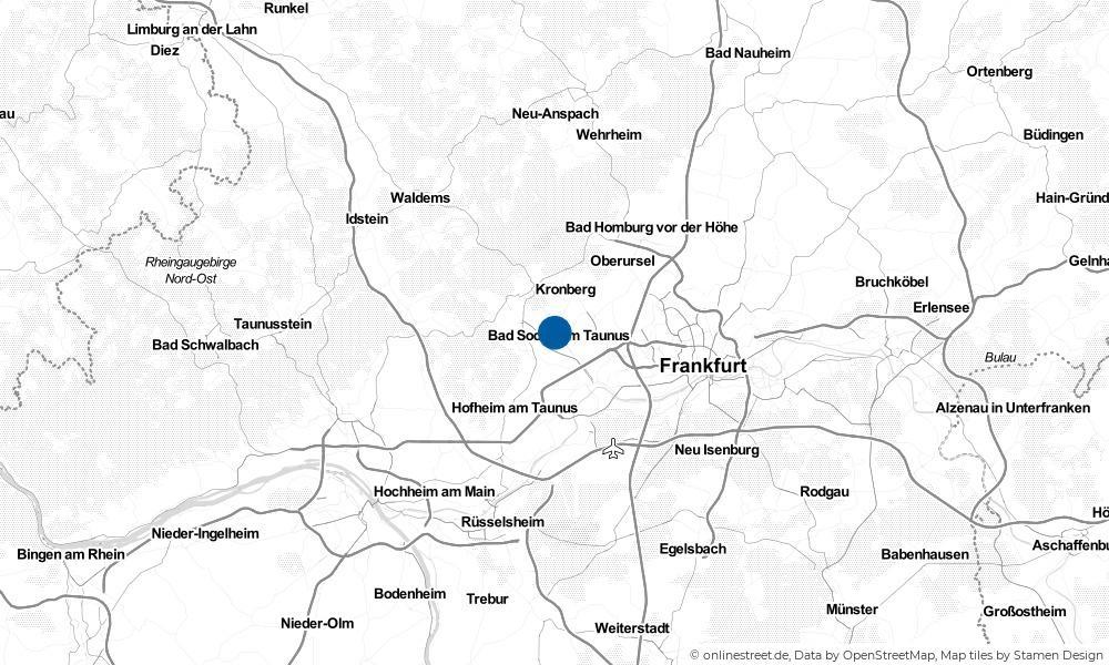 Karte: Wo liegt Bad Soden am Taunus?