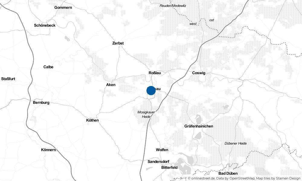 Karte: Wo liegt Dessau-Roßlau?