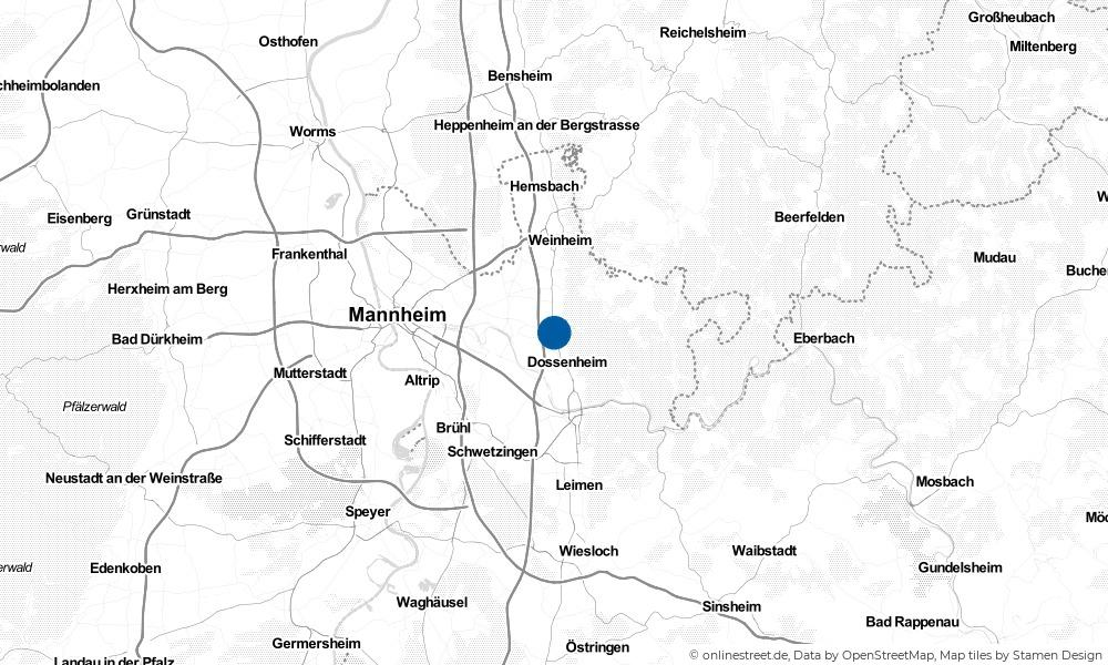 Karte: Wo liegt Schriesheim?