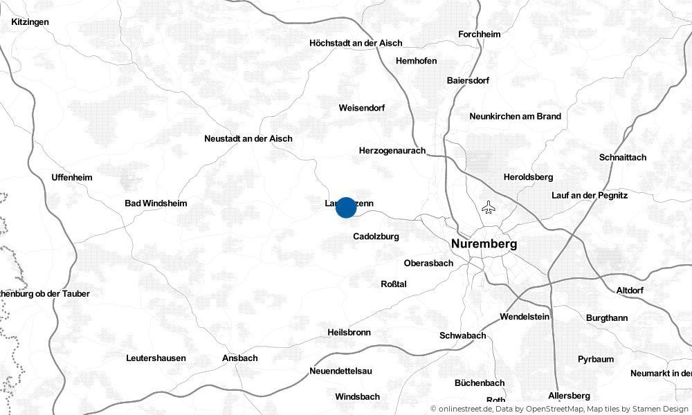 Karte: Wo liegt Langenzenn?
