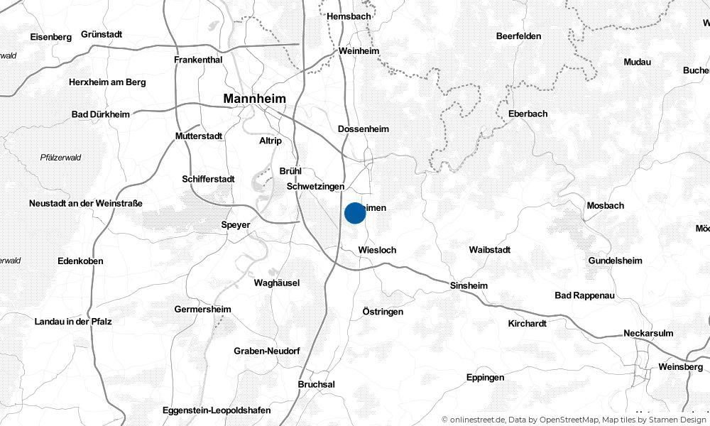 Karte: Wo liegt Sandhausen?