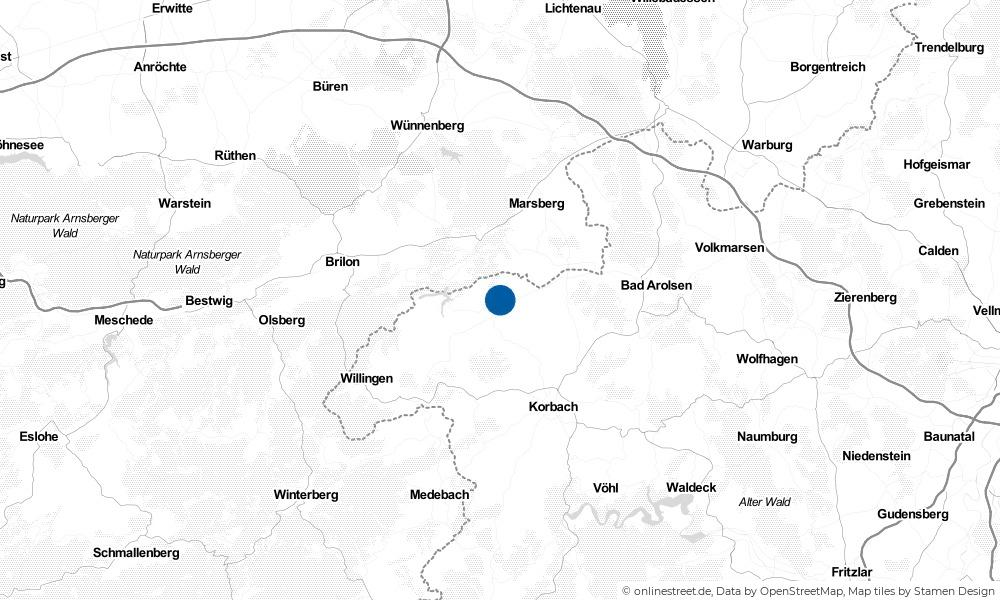 Karte: Wo liegt Diemelsee?