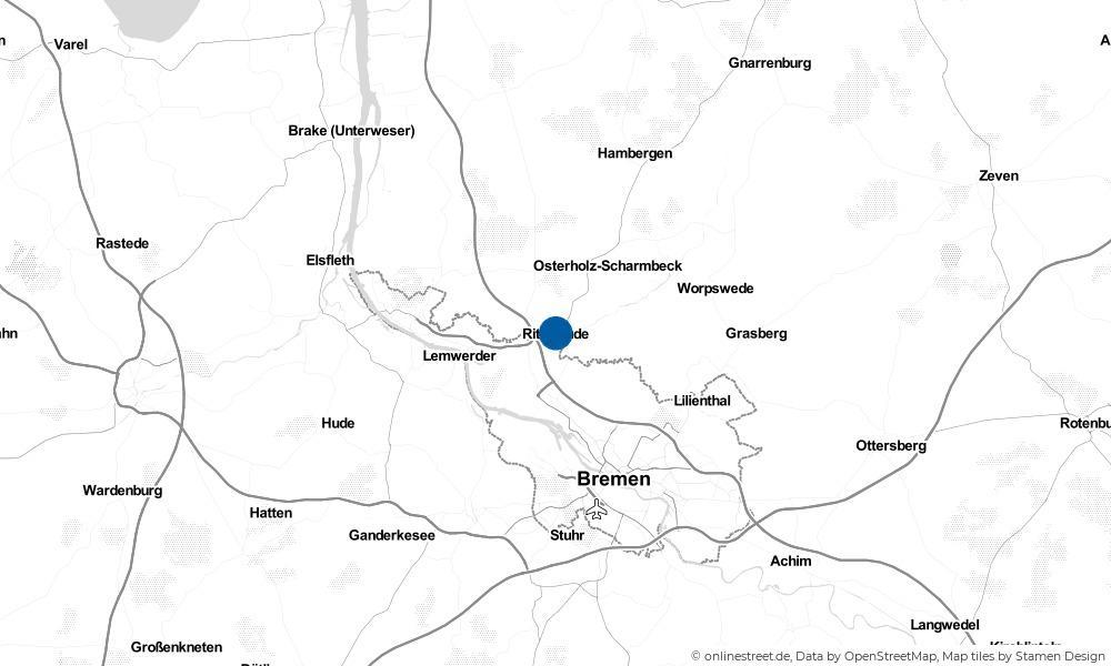 Karte: Wo liegt Ritterhude?