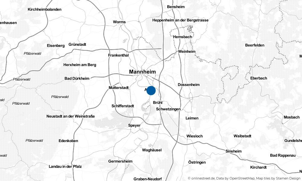 Karte: Wo liegt Altrip?