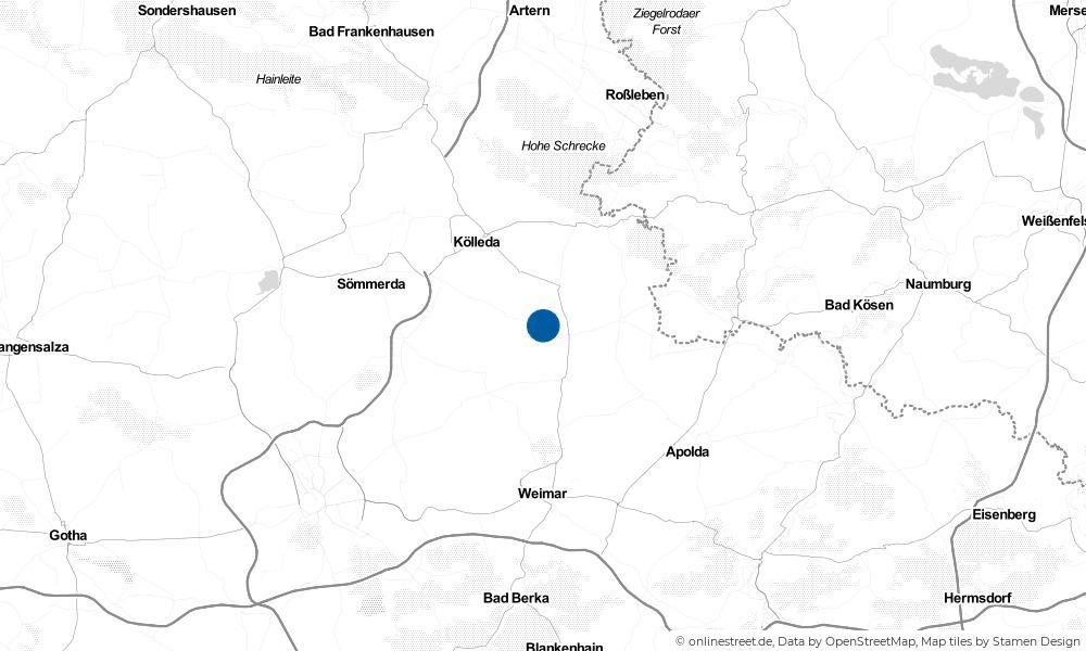 Karte: Wo liegt Großbrembach?