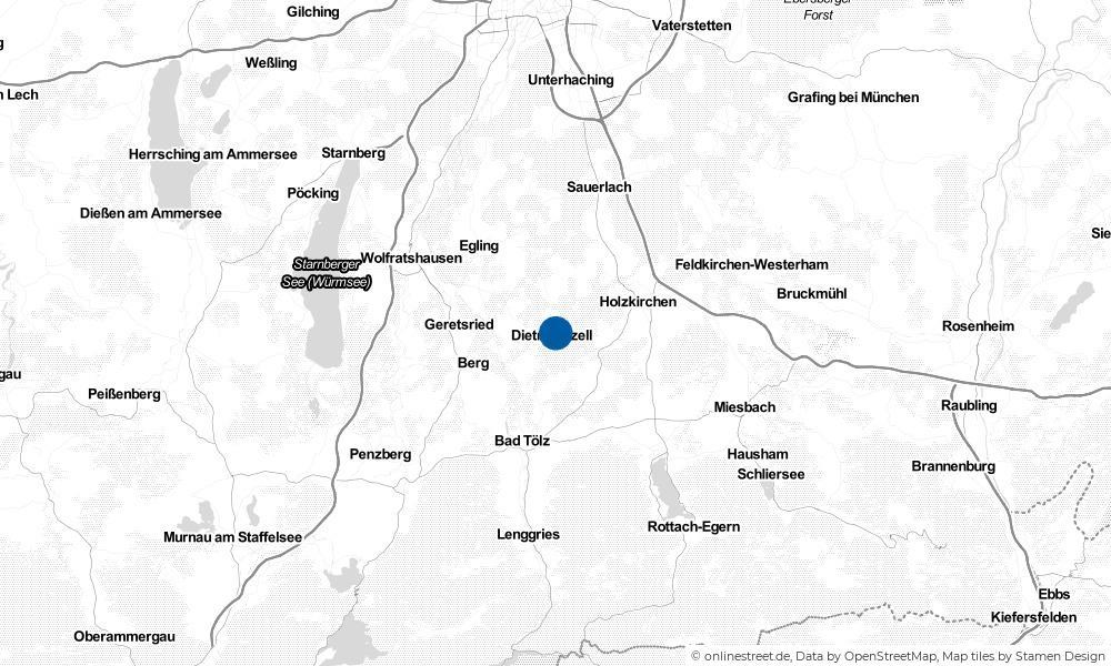 Karte: Wo liegt Dietramszell?