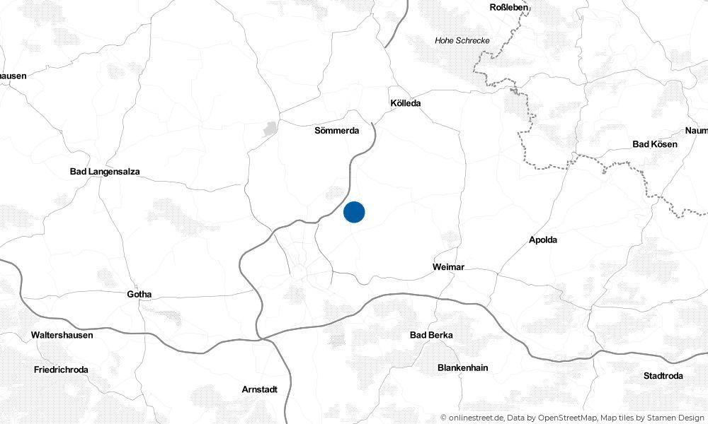 Karte: Wo liegt Udestedt?