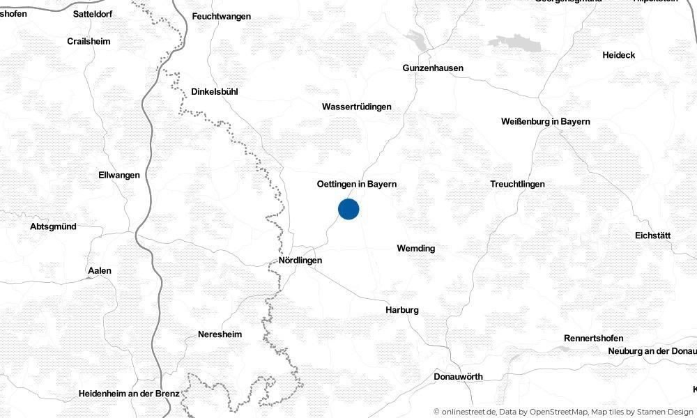 Karte: Wo liegt Munningen?