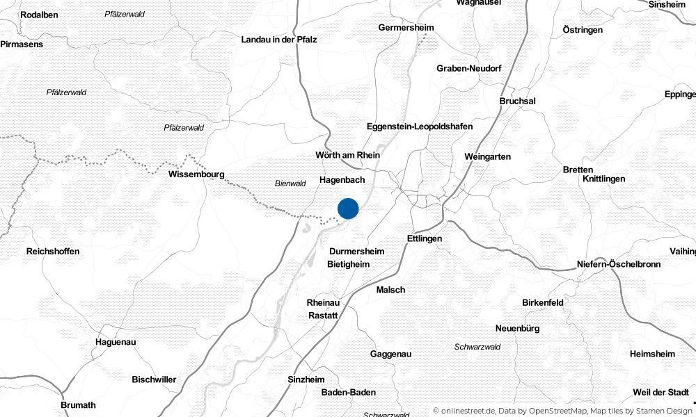 Karte: Wo liegt Neuburg am Rhein?