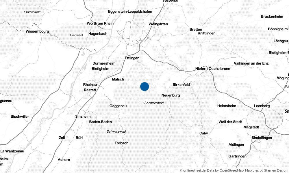 Karte: Wo liegt Marxzell?