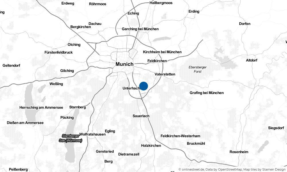 Karte: Wo liegt Ottobrunn?
