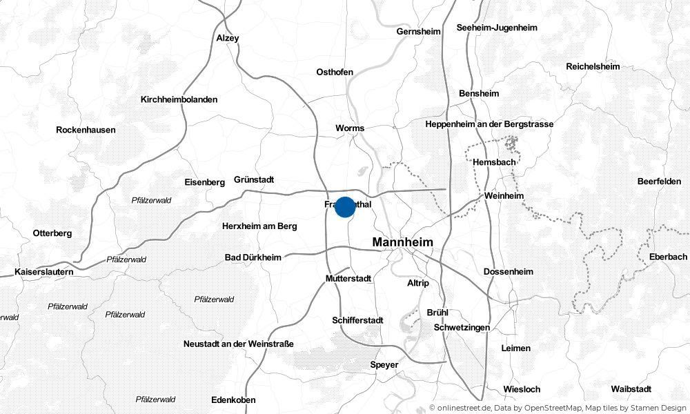 Karte: Wo liegt Frankenthal (Pfalz)?