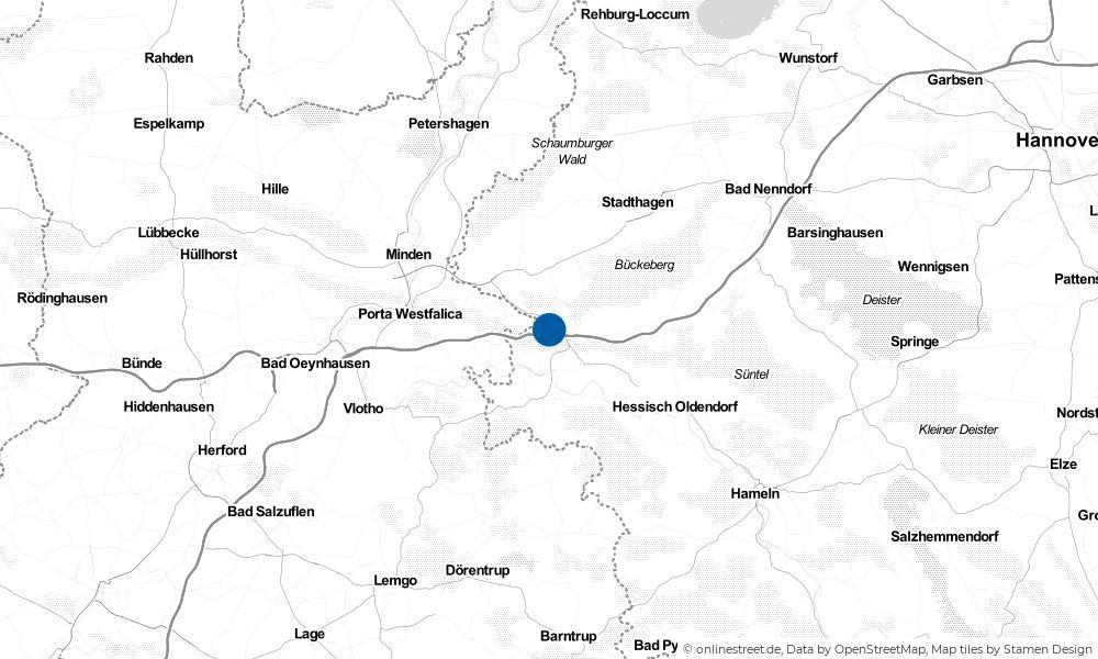 Karte: Wo liegt Luhden?