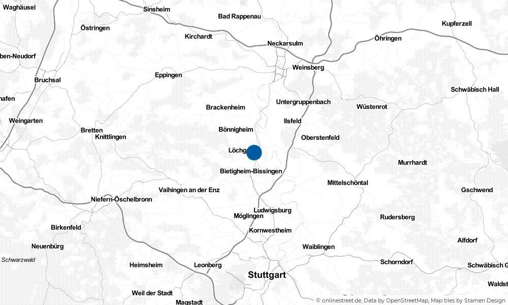 Karte: Wo liegt Besigheim?