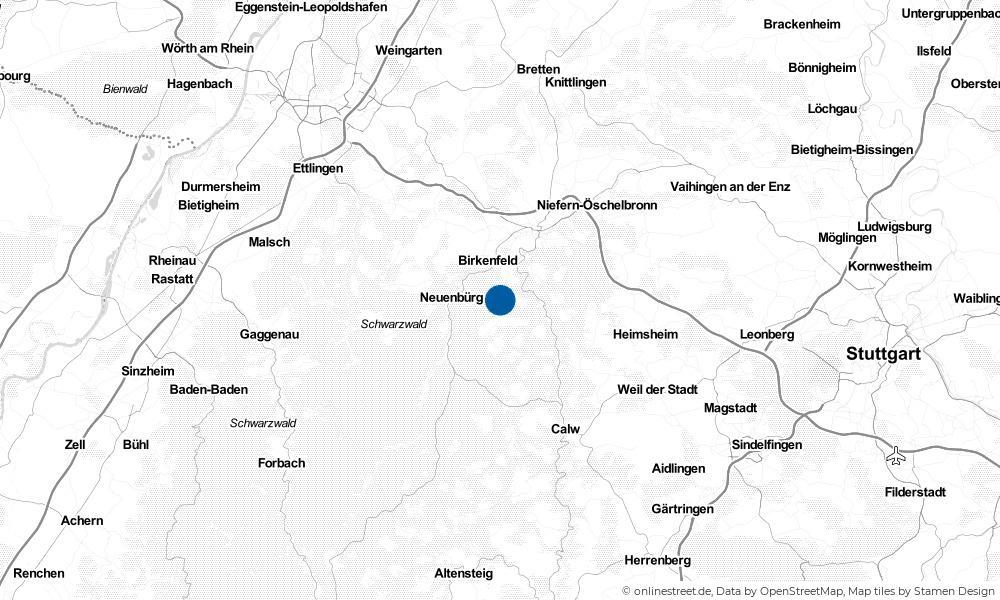 Karte: Wo liegt Engelsbrand?