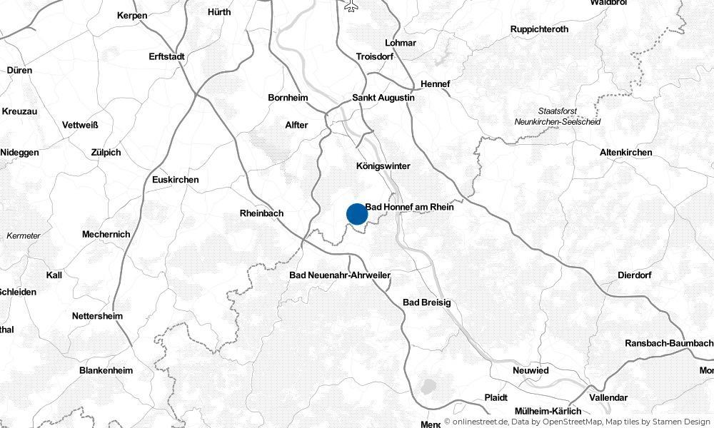Karte: Wo liegt Wachtberg?
