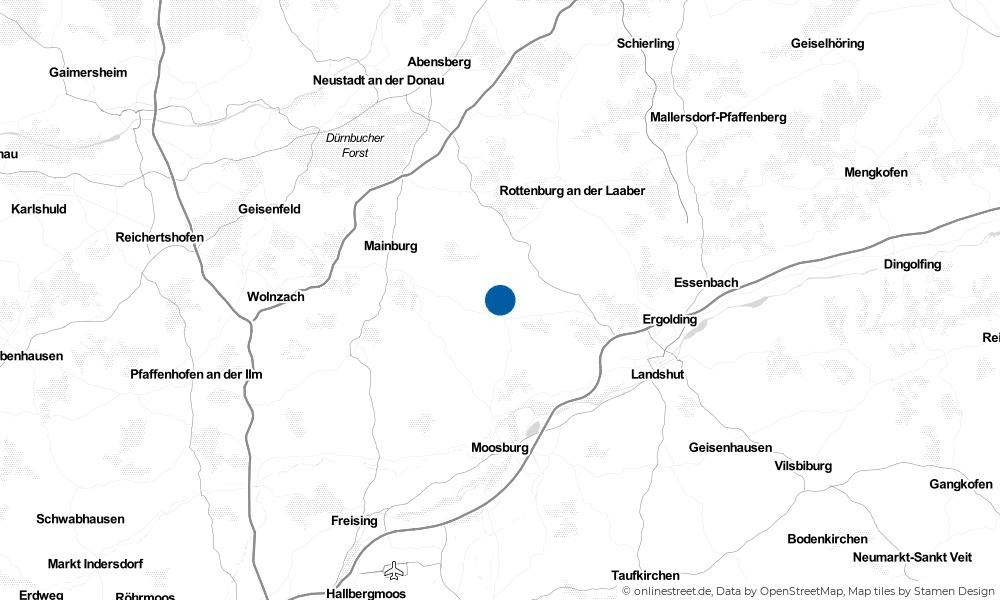 Karte: Wo liegt Obersüßbach?