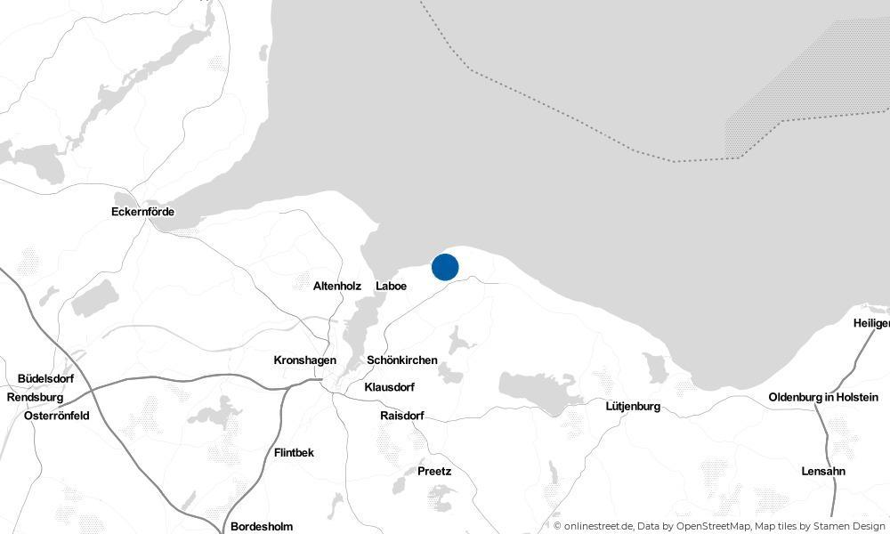Karte: Wo liegt Wendtorf?