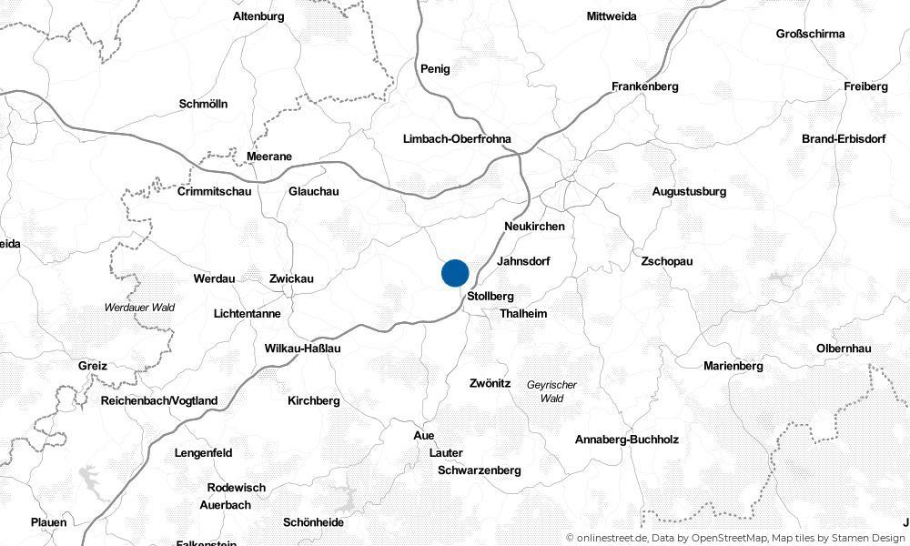 Karte: Wo liegt Lugau?