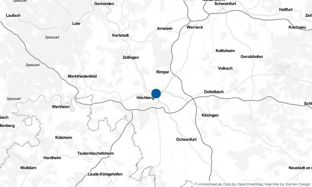 Karte: Wo liegt Würzburg?