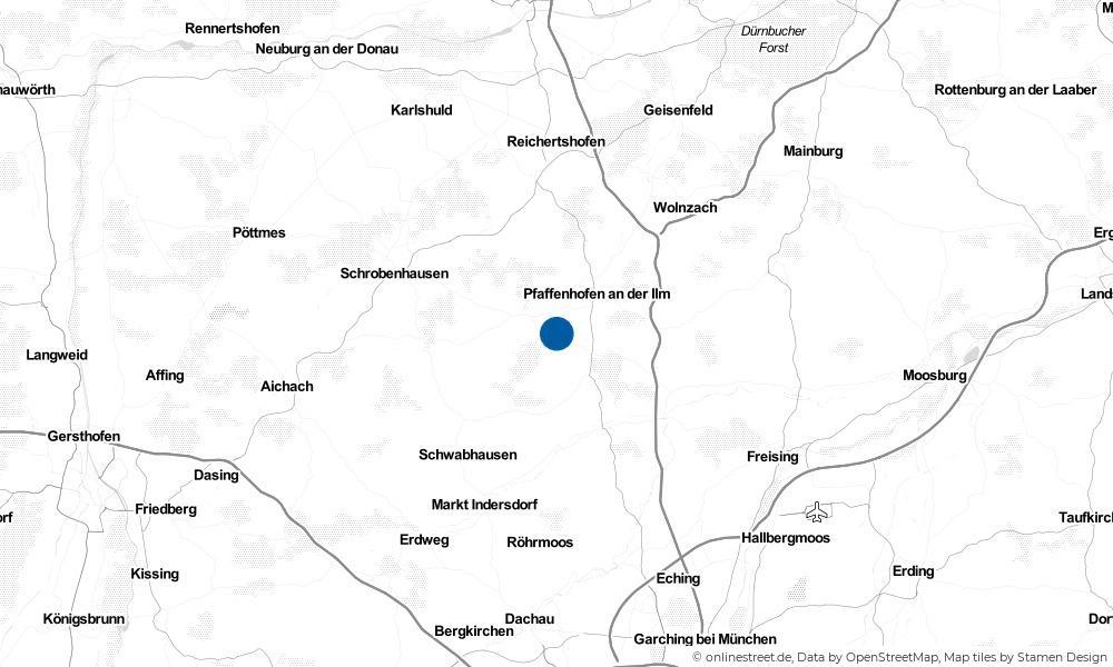 Karte: Wo liegt Scheyern?