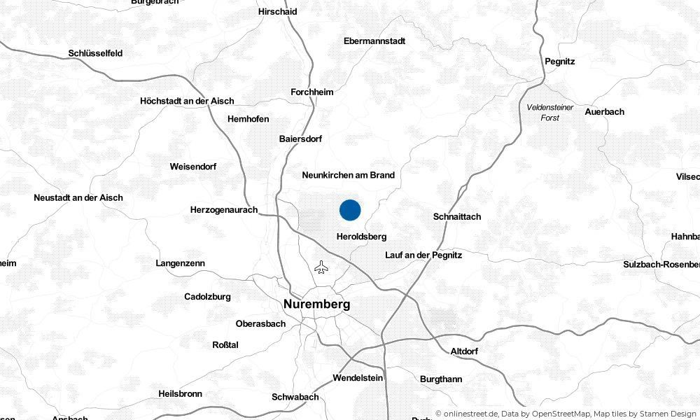 Karte: Wo liegt Kalchreuth?