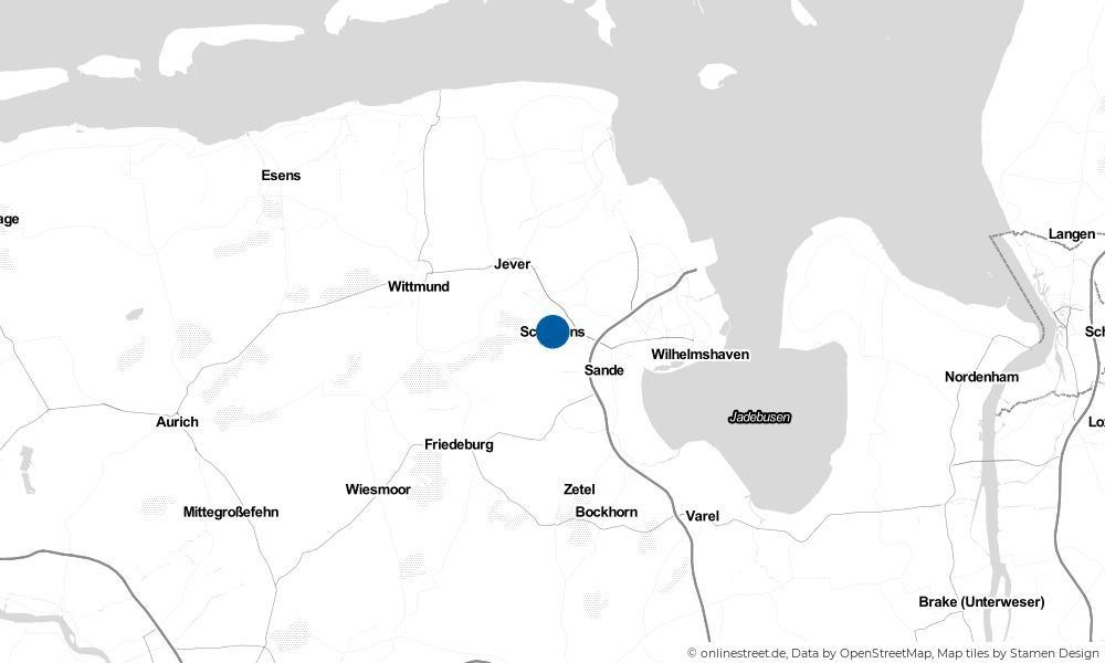 Karte: Wo liegt Schortens?