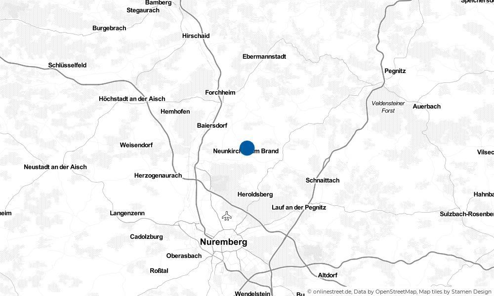 Karte: Wo liegt Neunkirchen am Brand?