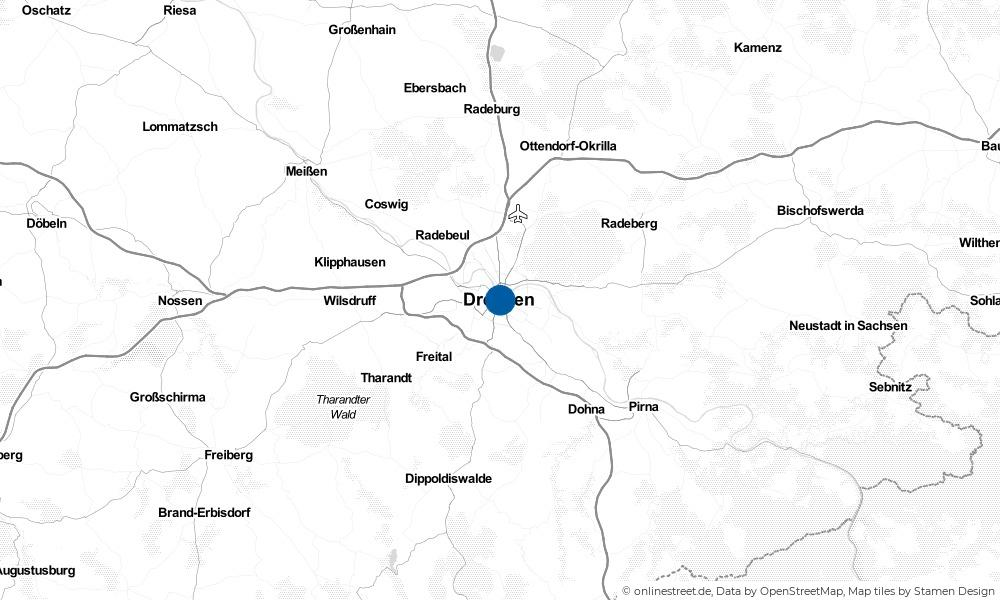 Karte: Wo liegt Dresden?
