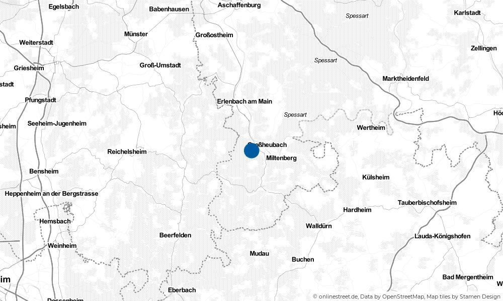 Karte: Wo liegt Rüdenau?