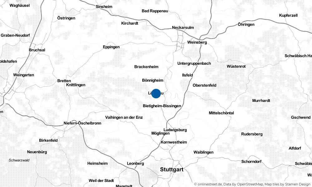 Karte: Wo liegt Löchgau?