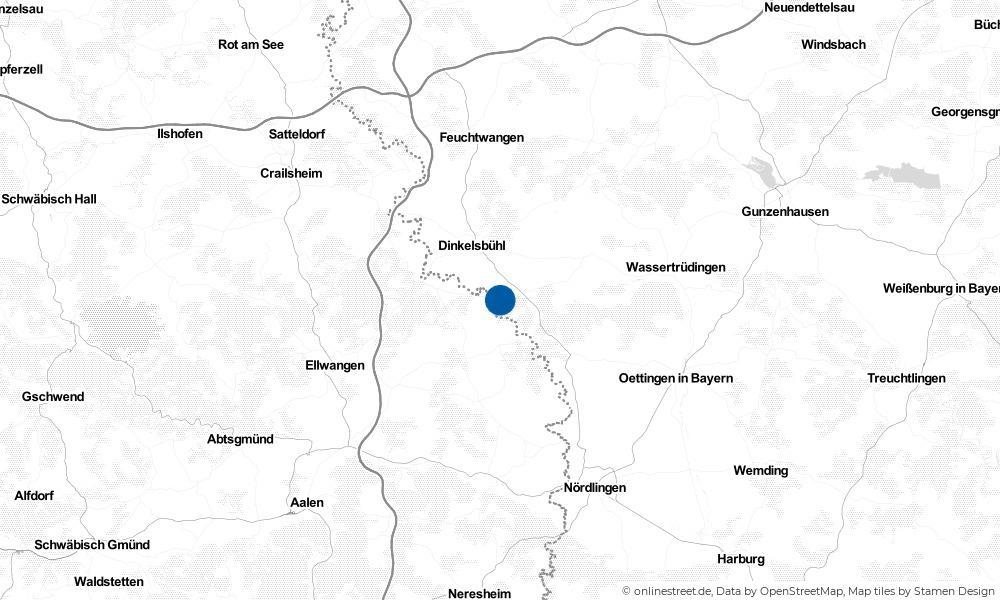 Karte: Wo liegt Mönchsroth?