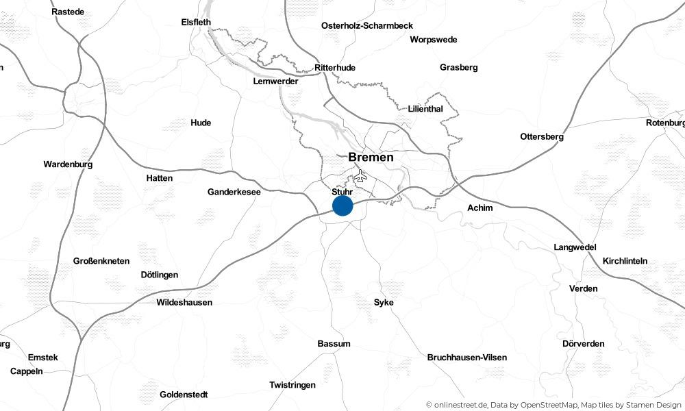Karte: Wo liegt Stuhr?