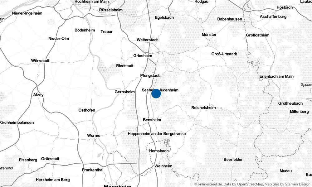 Karte: Wo liegt Jugenheim?