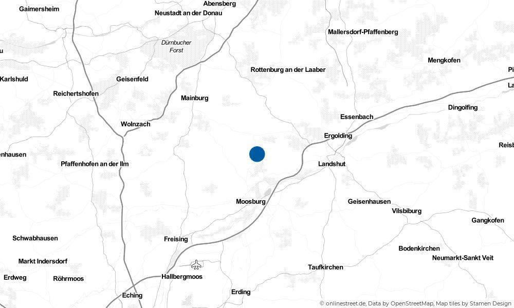Karte: Wo liegt Gammelsdorf?
