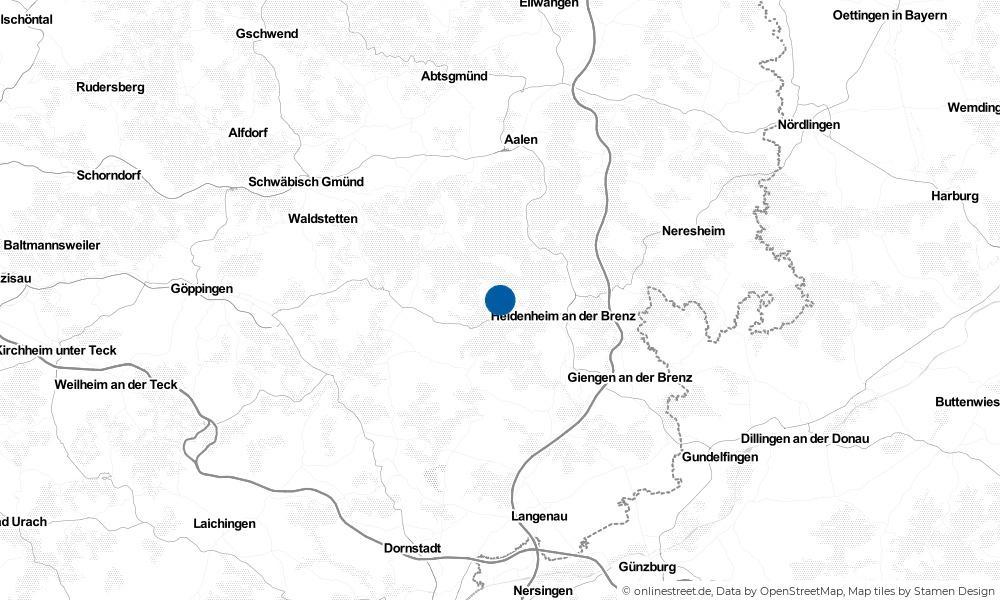 Karte: Wo liegt Steinheim am Albuch?