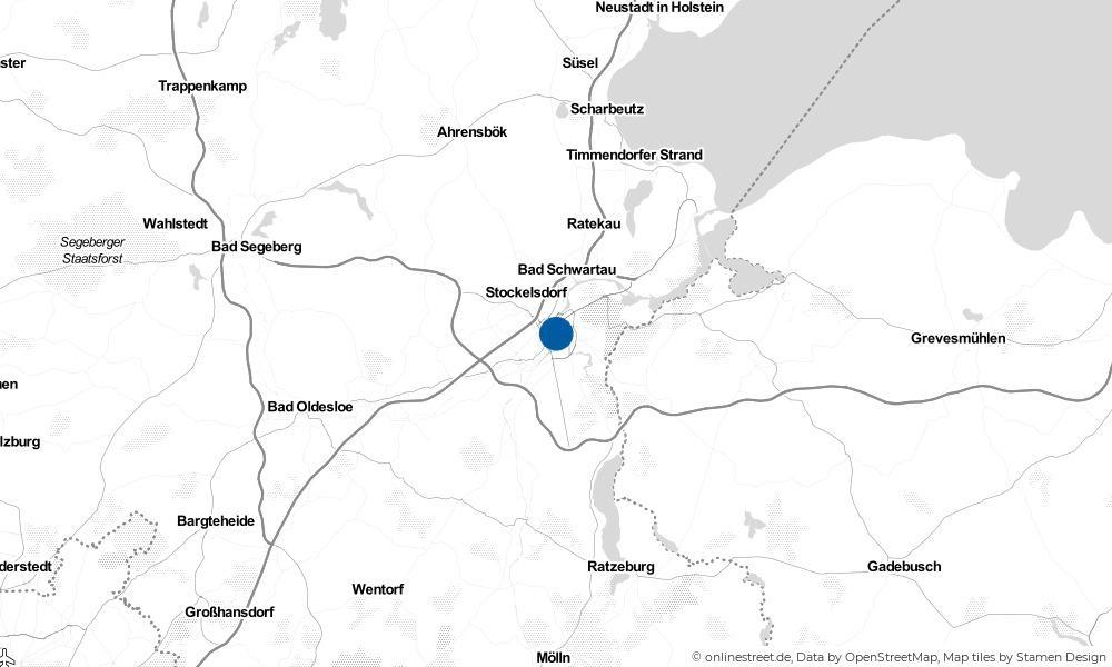 Karte: Wo liegt Lübeck?