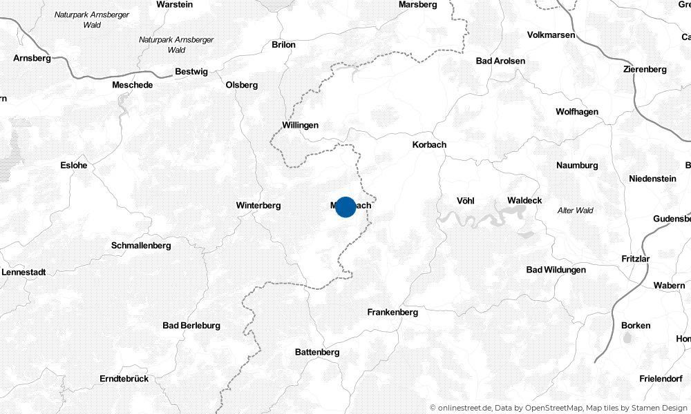 Karte: Wo liegt Medebach?