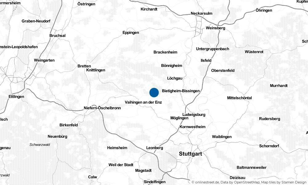 Karte: Wo liegt Sersheim?
