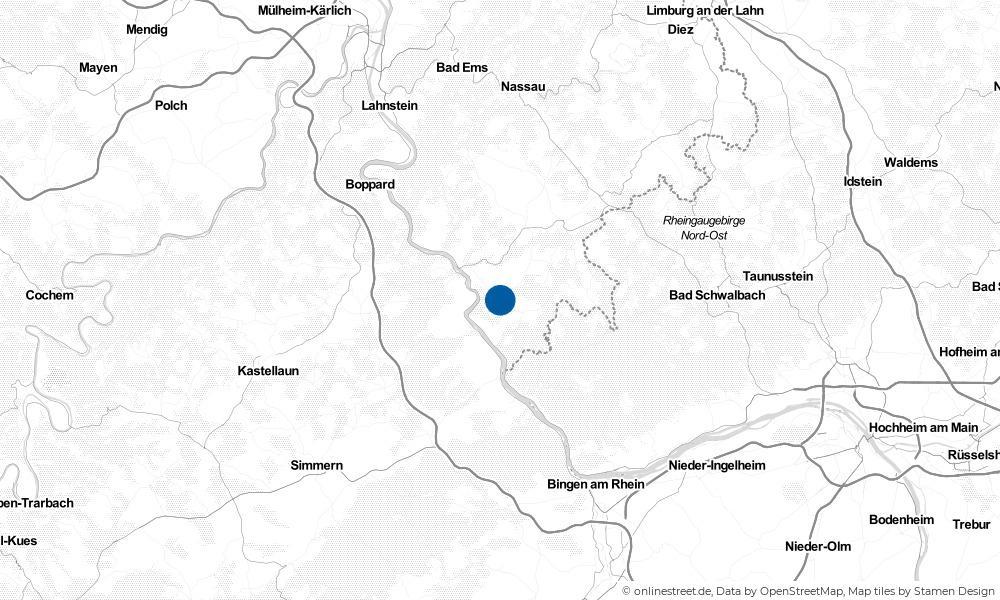 Karte: Wo liegt Bornich?