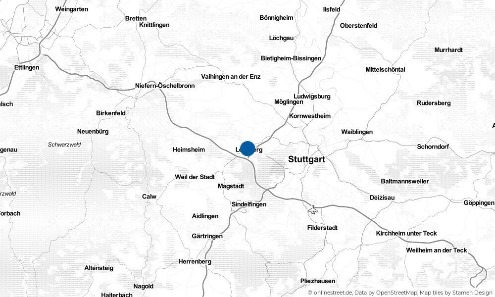Karte: Wo liegt Leonberg?